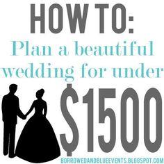 plan a wedding under $1500