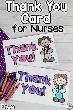 Celebrate National Nurse's Day by coloring and writing a special Thank You Card for Nurses! It's not only a great way for kids to show their appreciation and gratitude for health care workers but also learn about punctuation and the parts of a letter. This is a fun writing activity for young children and something special for them to give to someone else too. Click on the picture to get the five free thank you card for nurses! #nationalnurseday #thankyoucardforkids #writingactivityforkids