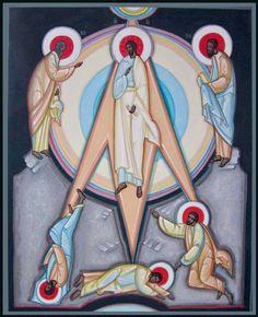 Transfiguration contemporary icon by Mykola Rybenchuk of Lviv, Ukraine