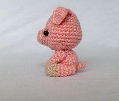 Crochet Animals, Piggy Bank, Teddy Bear, Kitty, Toys, Free, Craft, Image, Crochet Pig