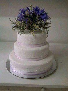 Torta matrimonio flores azules