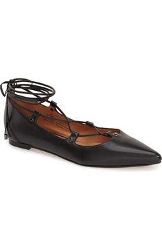 Halogen® 'Owen' Pointy Toe Ghillie Flat (Women) available at #Nordstrom