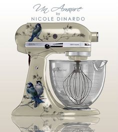 Would'nt a blue and white Kitchen Aid be perfect!.