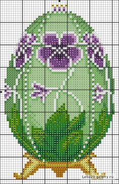 Fabergé Egg #1 • Chart for Violets on a Green Background
