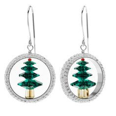 Wonderfully luxe and elegant looking, these earrings featuring dazzling Swarovski crystals and silver filled findings are sure to delight this holiday season. Make a pair for yourself or give as a special gift for a loved one.