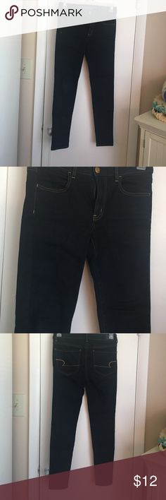 Jeggings Dark jeans from American eagle. Super stretch jeggings. In perfect condition. American Eagle Outfitters Jeans