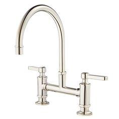 KOHLER HiRise Deck Mount 12 In. 2 Handle High Arc Bridge Kitchen Faucet In  Polished Stainless Steel | Armaturen Küche, Die Küche Und Küche
