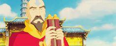 Tenzin is so proud of Uncle Sokka's work :3 (gif) Okay I just cried a little.