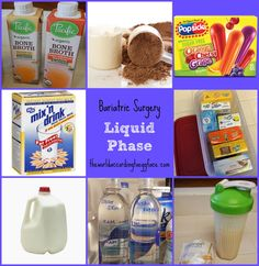 Bariatric Surgery - Tips Recipes Products Ideas for Liquid Phase, Pureed Phase
