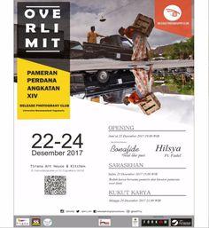 "[[RELEASE PHOTOGRAPHY CLUB]] Mempersembahkan #event pameran perdana angkatan XIV dengan tema ""OVER LIMIT""  Save the date:  OPENING 22 Desember 2017 // 19.00WIB  SARASEHAN 23 Desember 2017 // 15.00WIB  KUKUT KARYA 24 Desember 2017 // 21.00WIB  Location:  Tirana Art House & Kitchen (Jl. Suryodiningratan no 55 Yogyakarta 55141) @TiranaKitchen . Special Performance: 1. Hilsya ft Fadel 2. Bonafide ft the joes . Jangan biarkan hal diluar nalar menahan kalian untung datang ke pameran kami. Karena…"
