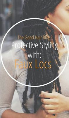 Faux locs as protective style....scratch the Havana twists. Do these first!.
