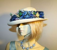 1940s wide brim hat