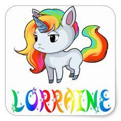 Lorraine Unicorn Sticker - craft supplies diy custom design supply special
