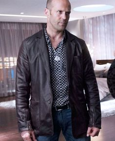 Stylish Hero Jason Statham Leather Jacket Color: Brown Color Material: Faux Leather Internal: Viscose Lining Collar: Lapel Style Collar Closure: Front Buttoned Closure Pockets: Front and Inside Pocket Sleeves: Full Sleeves With Round Hem Cuffs Buy Movies, Jackets Uk, Jason Statham, Hot Guys, Suit Jacket, Leather Jacket, Hero, Blazer, Stylish