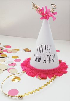 DIY New Year's party hat.