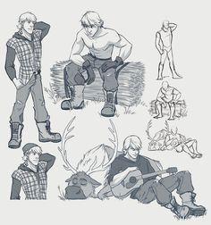 ModernFrozen AU - Kristoff - Sketch by xxMeMoRiEzxx.deviantart.com on @deviantART