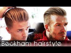 David Beckham inspired hair -  Men's modern Slick back Hair tutorial | -...