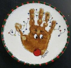 christmas handprint art | Hand and feet print Christmas crafts | Handprint Art
