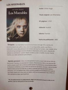 Los Miserables. Recomendado por una alumna de 4º ESO.