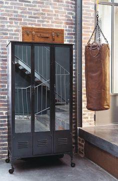 vintage industrial furniture three door industrial wardrobe peter