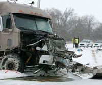 Six men were in a pickup on I-94 when the driver lost control and was hit by a semi. All 6 men are deceased. The driver of the semi suffered non-life threatening injuries. North Dakota Highway Patrol officers believe the man lost control because the interstate is extremely icy from Jamestown to Fargo.
