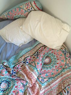 Bedding Purposeful Queen Size White Handmade Paradi Print Kantha Quilt Ethnic Cotton Hippie Blanket Complete Range Of Articles