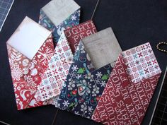 Make cute little envelopes with 6x6 paper and a scoring tool.