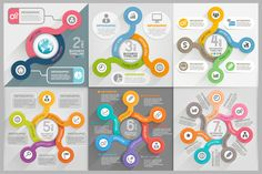 Infographics Template Set. by Graphixmania on @creativemarket