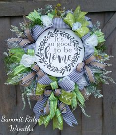 Farmhouse Wreath, Everyday Wreath, Front Door Wreath, It's so good to be home ~SOLD~ Etsy Tulle Wreath, Diy Wreath, Wreath Ideas, Wreaths For Front Door, Door Wreaths, Farmhouse Style, Farmhouse Decor, Deco Mesh Wreaths, Christmas Wreaths