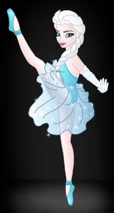 Disney Ballerina: Elsa by Willemijn1991.deviantart.com on @DeviantArt