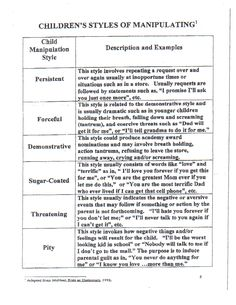 Childrens styles of manipulating. NONE EVER WORKED