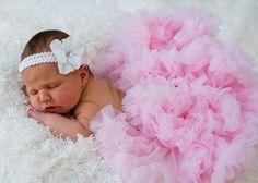 Baby Pink Pettiskirt... Newborn Petti skirt ..Great by Ellasbows, $25.00