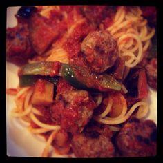 Meatball spaghetti. ♡
