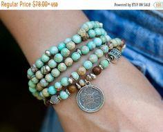 Bracelet Wrap, Coin Bracelet, Beaded Wrap Bracelets, Seed Bead Bracelets, Beaded Necklace, Stretch Bracelets, Bracelet Turquoise, Tanzanite Bracelet, Boho Jewelry