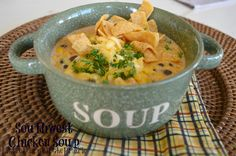Southwest Chicken Soup, slow cooker southwest chicken soup