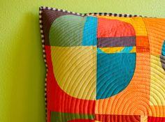 Improv pillow detail | by stitchindye