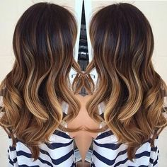 chocolate brunette with caramel and blonde ombré