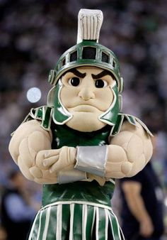 Michigan State Spartans - the mascot Sparty