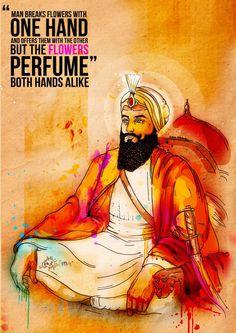Guru Har Rai Ji (Seventh Sikh Guru)   Inkquisitive Illustration