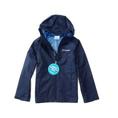 Columbia Junior Boy's Pusher Jacket, Small(8 yrs), Navy. 100% Polyester.