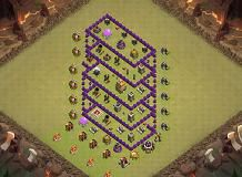 T H - 6 TH 7 Clash of Clans Base Layout