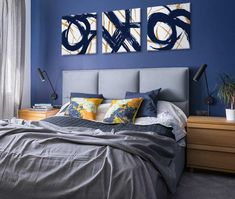 Large Art Space Solutions   Decorating Ideas and Art Inspiration at FramedArt.com Big Living Rooms, Bedroom Decor, Wall Decor, Types Of Furniture, Large Bedroom, Large Homes, Large Art, Decorating Tips, Space