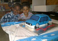 Coolest 2nd Birthday Car Cake...
