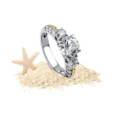 "Our idea of a perfect long weekend? Beach, margarita and a ring that makes people go ""Wow!""  Shop three-stone rings >> http://www.berricle.com/jewelry-rings/3-stone-rings.htm?utm_medium=organic&utm_campaign=vacation&utm_source=pinterest"
