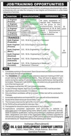 On The Job Training Form Chief Executive Officer Jobs In Genco 2014 November Wapda Pakistan .