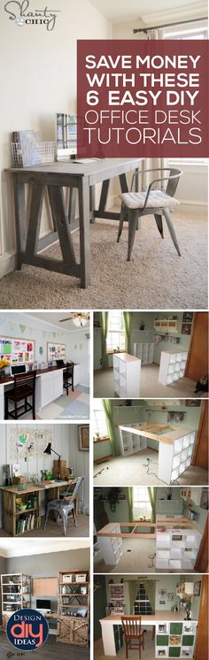 Need a new desk? Check out these 6 Easy DIY Office Desk Tutorials