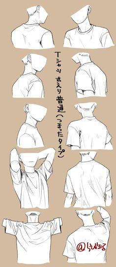 sketches and drawings Drawing Body Poses, Shirt Drawing, Drawing Men Face, Drawing Face Shapes, Drawing Hair, Gesture Drawing, Drawing Anime Clothes, Clothes Design Drawing, Drawings Of Clothes