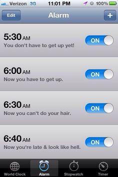 Always get up on time - #Alarm, #Ideas, #Morning, #Sleep