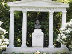 Colonel Harland Sanders (KFC) is buried at Cave Hill Cemetery in Louisville, KY.