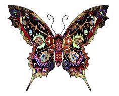 Vlinder kleurig